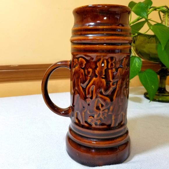 Brown Ceramic Stein, Vintage